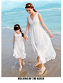family look Summer beach Mother Daughter Dresses 2016 Long Maxi family matching clothes mother and daughter