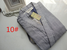 Cotton Yukata Japanese Kimono Men Pajamas Sleepwear Mens Cotton Kimono Robe and Pants 13 Colors M L Size(China (Mainland))
