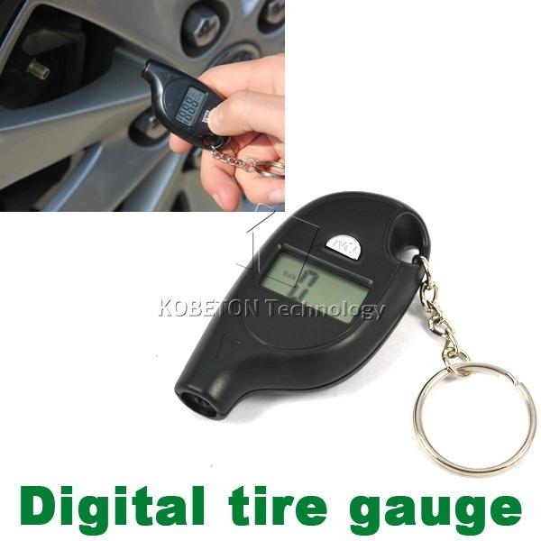 Professional 2-150PSI diagnostic tool Digital LCD Display plastic Tire Air Pressure Gauge Vehicle Motorcycle For Audi Car Tester(China (Mainland))