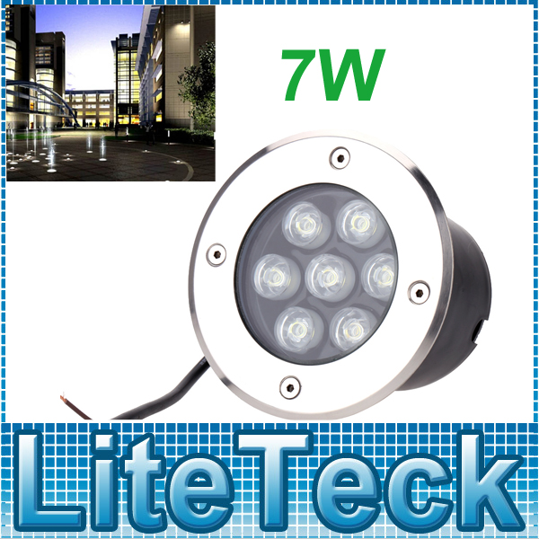 7W RGB /Warm White /Red /Green /Blue /White led inground light, underground lamp,outdoor recessed floor lights ip67 For Garden(China (Mainland))