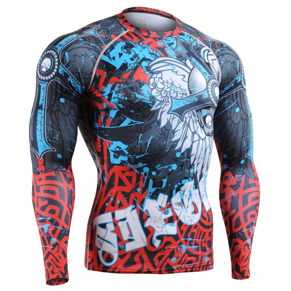 Technical Men's Compression Mma Shirt Long Sleeves Special MMA Design CHUNGO CFL73