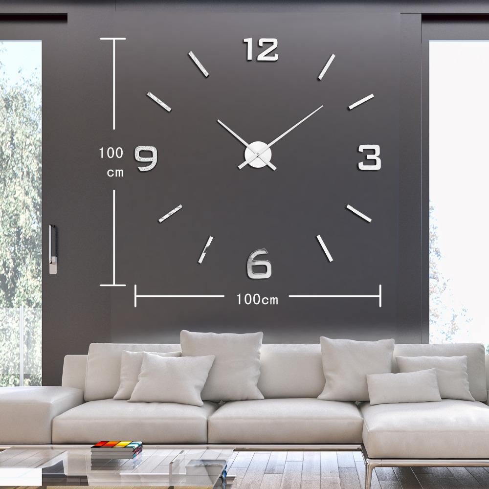 aliexpress com buy home decoration big number wall clock