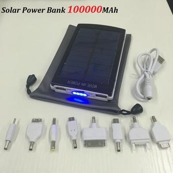 2015 новый солнечный зарядное устройство 100000 мАч Bateria наружный внешний аккумулятор солнечное зарядное устройство powerbank для iPhone за HTC для PSP