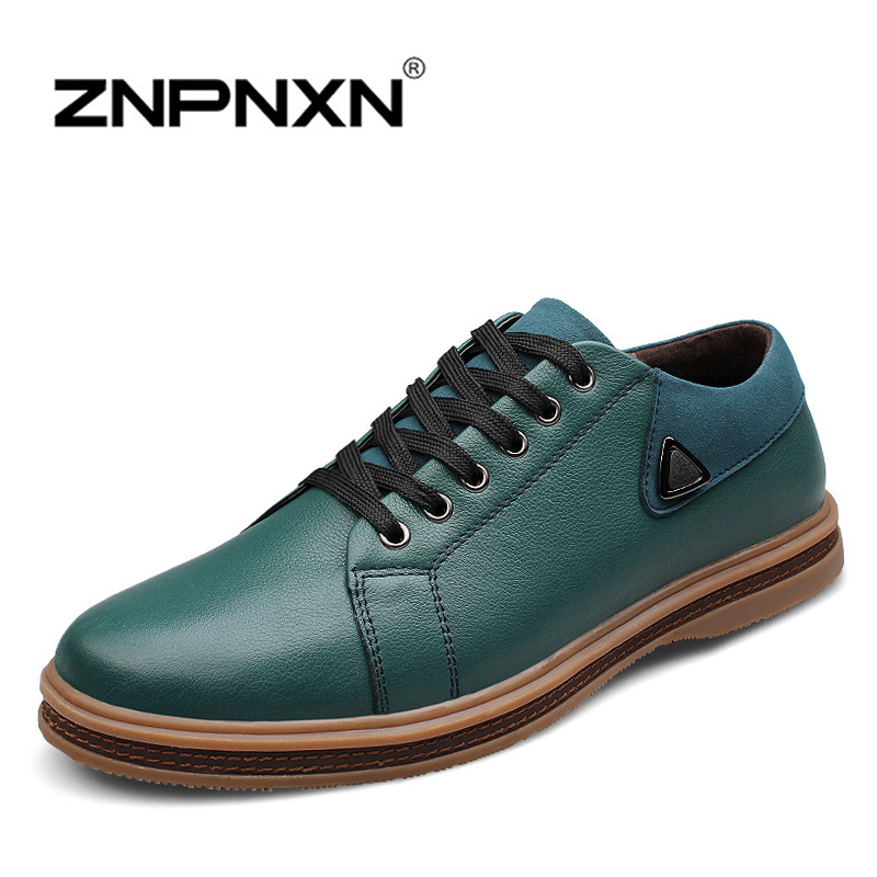 Genuine Leather Men Flats Shoes Handmade Oxford Shoes For Men Loafers Moccasins Zapatos Hombre Male Chaussures Sapatas t18