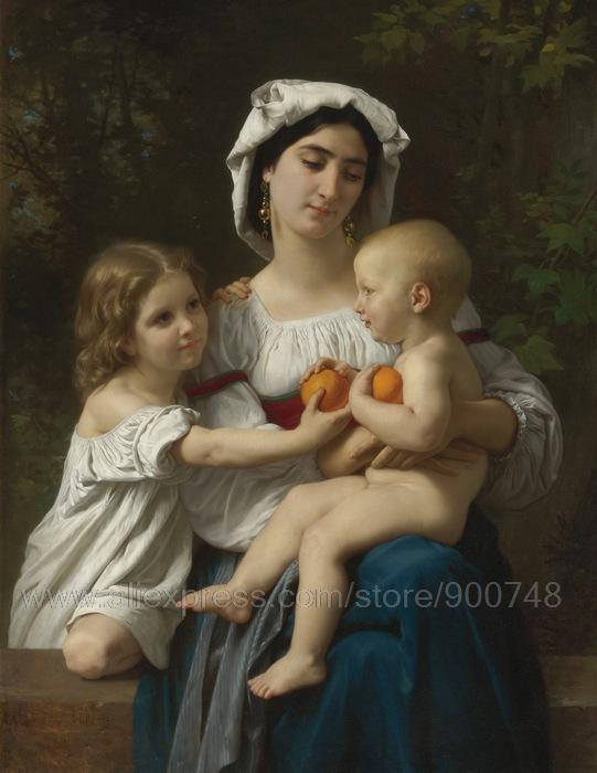 William Adolphe Bouguereau canvas trees roller blinds wall decor paintings modern Office background abstract techniques large(China (Mainland))
