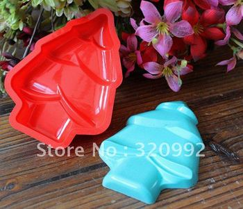 Free Shipping Silicone Cake Mold/Christmas tree Cupcake Mold /handmade soap mold /baking mould cookware Wholesale