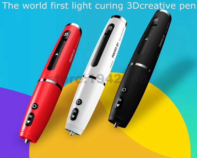 2016 New 3D pen creative pen,The worlds first light curing 3D creative pen,  DIY 3D Printer Pen doodle Arts pen For Kids <br><br>Aliexpress