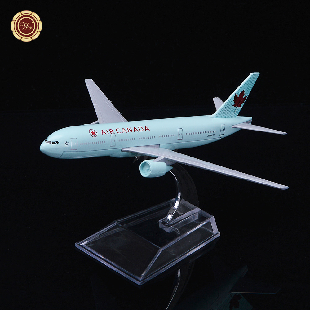 Air Canada Mini Airplanes Best Gifts Zinc Alloy Plane Scale Models Unique Gift Ideas for Men Desktop Model Planes(China (Mainland))