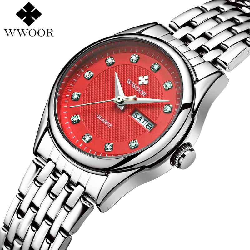 New Women Watches Brand Luxury 50m Waterproof Date Clock Ladies Quartz Sports Wrist Watch Women Silver Bracelet relogio feminino