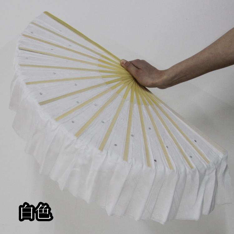 2pcs/ lot Belly Dance silk veil Fan Dancing short Veil fan Dance costume Accessory 42cm long t140(China (Mainland))