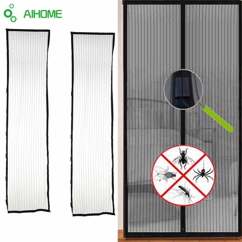 Summer Mosquito Net Curtain Magnets Door Mesh Insect Sandfly Netting with Magnets on The Door Mesh
