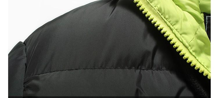 2016 Kış marka Erkek Kapşonlu Sıcak Giyim Ceket erkek Rahat Artı Boyutu Aşağı Ceket Erkek Katı Parka Kabanlar Sıcak ceketler
