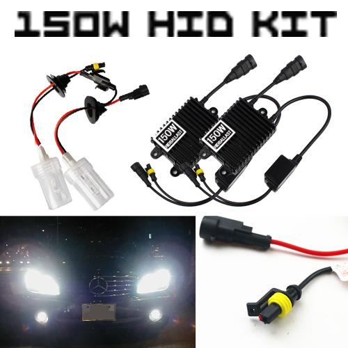 AC 12V Ultra Bright 150W Headlight Digital Ballast HID Conversion Kit Xenon Light 4300K 6000K 8000K Motorcycle Fog Driving DRL