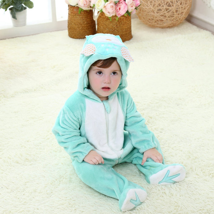 Fleece Baby Animal Romper White Black Jumpsuit Bear Baby Romper Pattern For 4-18 Months Toddler Clothes SBR155010(China (Mainland))