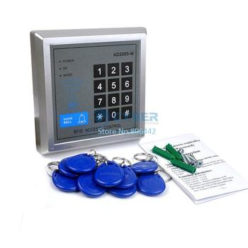 Wholesale 8Pcs/Lot RFID Proximity Entry Lock Door Access Control System AD2000-M with 10 Keyfobs Free Shipping 36