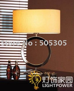Shipping Free By EMS Modern Iron And Fabric Table Lamp For Bedroom, Studyroom, etc.(Yellow Color)(China (Mainland))