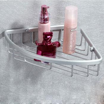 Hot Sale Aluminum Triangle Basket Wall-Mounted Single Corner Bathroom Shelf Bath Shelves Bathroom Accessories 1Set