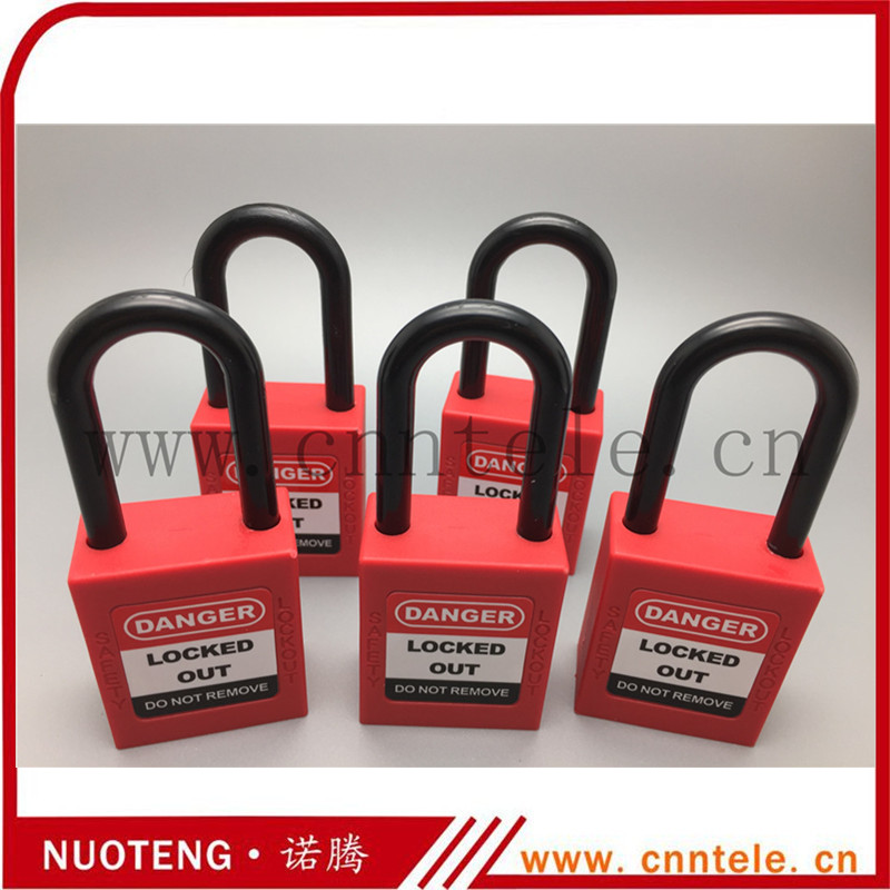 Lock Pick Set Industrial Safety locks With 38mm Plastic Shackle Padlocks Accept Customization(China (Mainland))