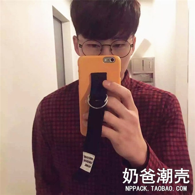 Korean Style Hand Holder Hipster Canvas Second Unique Name PC Hard Phone Cases Cover for iPhone 6 6S Plus Capinha Fundas Shell