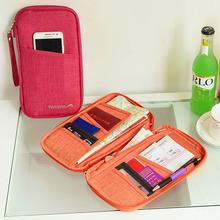 7 colours fashion Travel set nylon man brand ID passport holder credit card organizer bag women long travel wallet(China (Mainland))