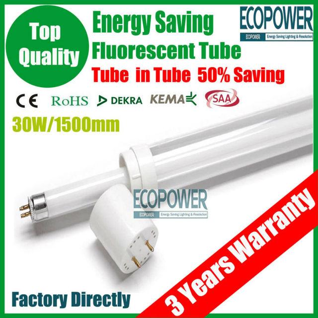 New Energy Saving Lamps T5/T8 Fluorescent Lamp 30W 1500mm Light Bulb Luminaire G13 Fixtures Ballast Tube CE/ROHS/LVD Certificate