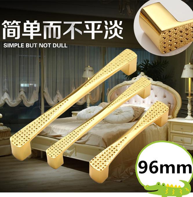 Гаджет  10pcs 96mm golden crystal Dresser Drawer handle Pulls Cabinet Knobs And Handles Furniture Glass pulls None Мебель