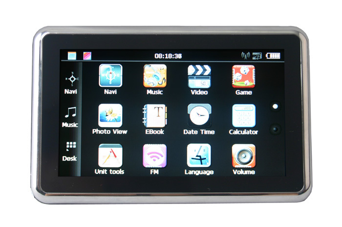 "4.3"" Car GPS Navigation Built-in 4GB Memory MP3/4 FM 128M DDR Touch Scree + new Map GPS Receiver(China (Mainland))"