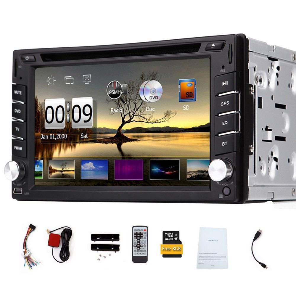 Universal 6.2 inch HD Touchscreen 2Din Car DVD Player MP3 GPS Navigator USB RDS Radio Bluetooth Car Stereo Audio Navigation(China (Mainland))