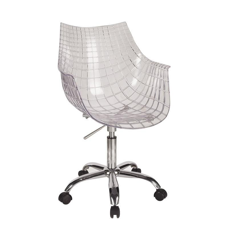 Special transparent Scandinavian minimalist designer IKEA LOFT rotating creative fashion casual staff to write computer chair(China (Mainland))
