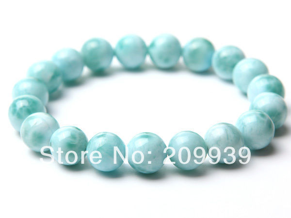 huij 00457 Top Grade Dominica Natural Blue Larimar Bracelet Jewelry<br><br>Aliexpress