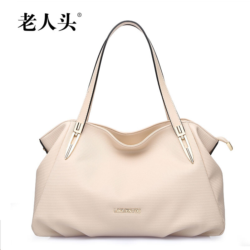 2015 new famous brands women bag Top Quality genuine leather bag fashion women handbags Shoulder Messenger Bag beige(China (Mainland))