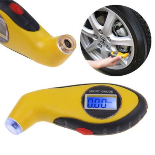 New 0-100PSI LCD Digital Tire Tyre Air Pressure Gauge Tester Tool For Auto Car Motorcycle Diagnostic Tool()