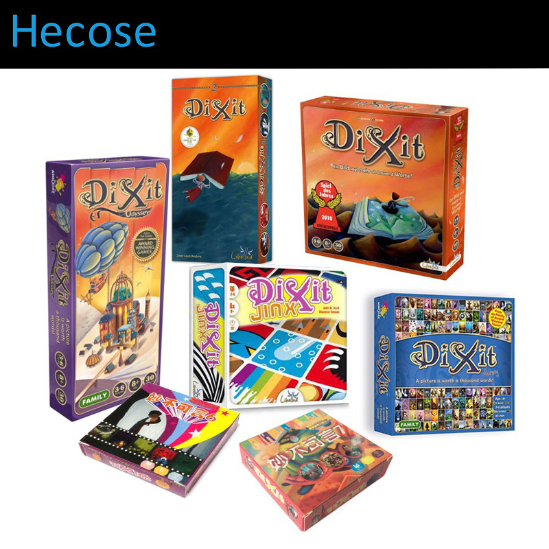 Express Shipping DIXIT children board games, 1+2+3+4+5+6+7 table FULL SET fun family playing cards English Russian Portuguese