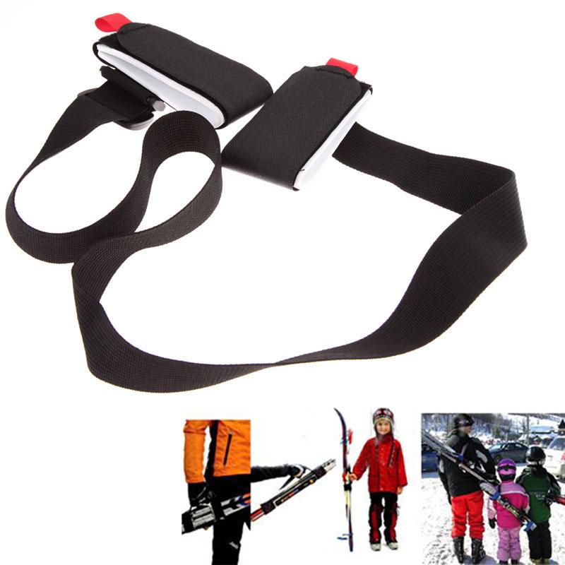 New Arrival Adjustable Ski Pole Shoulder Hand Carrier Lash Handle Straps Porter Black Free Shipping<br><br>Aliexpress