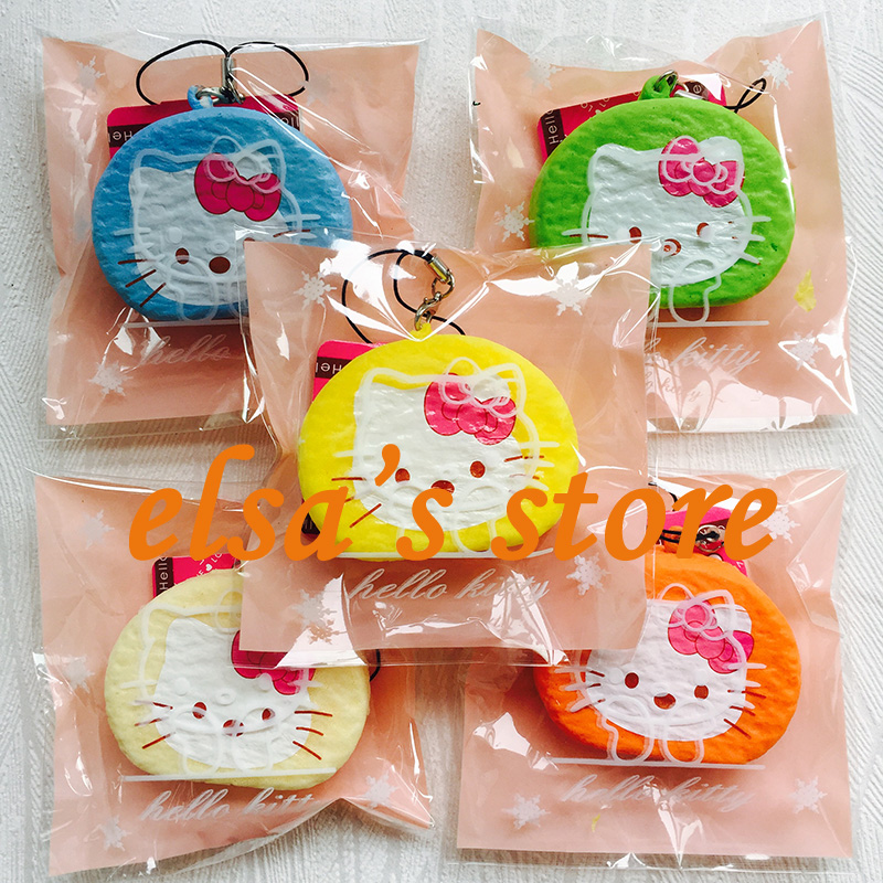 Squishies wholesale 10pcs KAWAII rare squishy lot hello kitty squishy with tags strap for cell phone kids toys Free Shipping(China (Mainland))