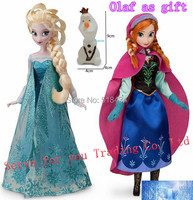 Princess Brinquedos Elsa Anna doll 11.5 Inch Doll 30cm Elsa Anna Olaf (gift) 12 Joint Moveable Birthday Chrismas Gift For Kids