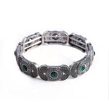Joyme New Women Vintage Charm Gold Bracelets & Bangles Adjustable Strand Cuff Retro Marcasite Bracelet Bijoux Femme(China)