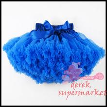 Baby kids solid color girls fluffy dance wear pettiskirts cute chiffon tutu princess skirts Free shipping(China (Mainland))
