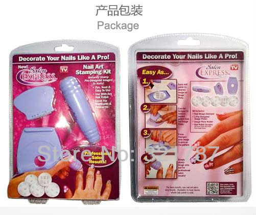 Salon-Express-Nail-Art-Stamping-Kit-As-Seen-On-TV-DIY-design-Nail
