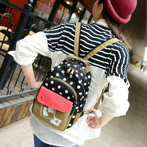 Bags women canvas casual shoulder bag 2015 new brand backpack creative designer school girls students travel zipper - Don't even think about it store
