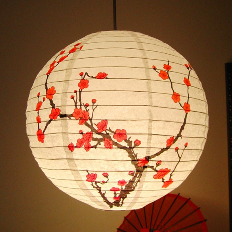 Wholesale 35cm Chinese Plum Blossommetal Holder Paper Lantern String Light  Lamp Shade Oriental Home Festival Party Wedding Decoration Buy String  Lights ...