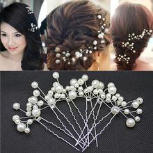 Gros 10 pcs/lote nouvelle arrivée accessoires de mariage nuptiale bijoux pour femmes, Perle cheveux Pins cheveux Clips de demoiselle d'honneur bijoux XHP051(China (Mainland))