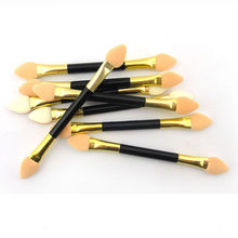 12 pcs Double-ended Sponge Eye Shadow Applicator Tools Disposable Eyeshadow Applicator Brushes Cosmetic Tools For Women Lady(China (Mainland))