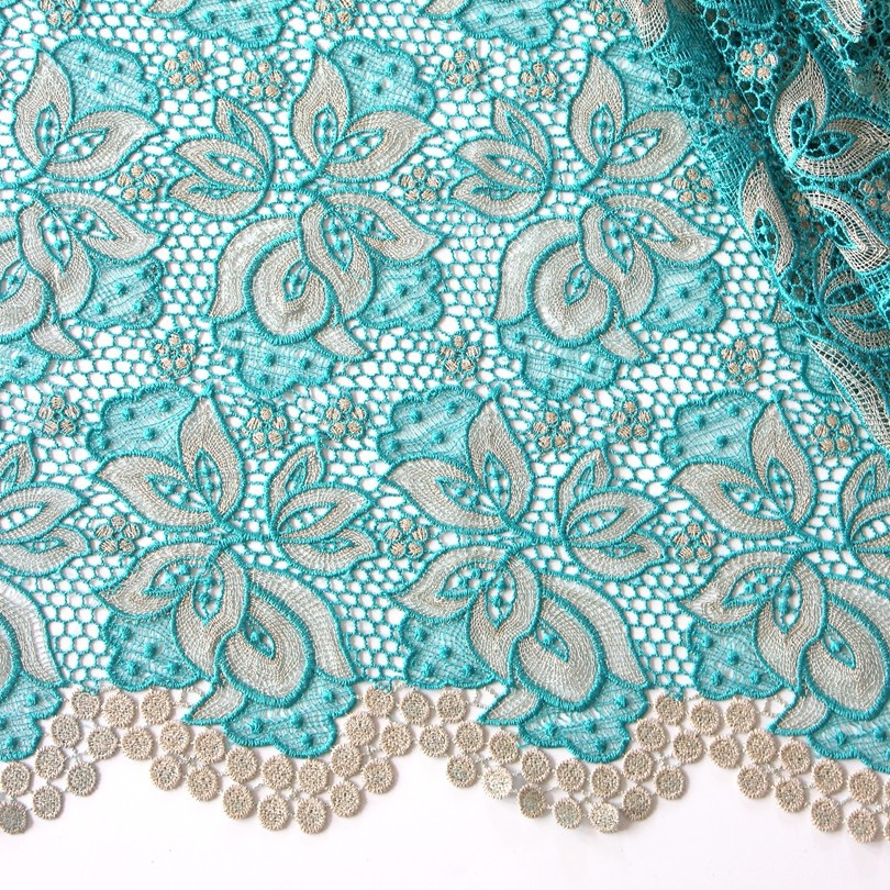 Здесь можно купить  New arrival latest nigerian designs aso ebi african guipure lace water soluble chemical lace 2015 free shipping green color   Дом и Сад