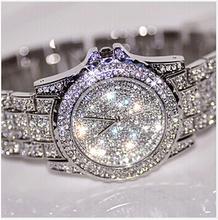 2015 new women rhinestone watches dress steel women watch diamond luxury brand bracelet watch for ladies crystal vintage quartz