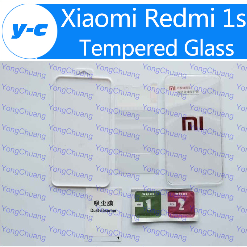 For Xiaomi Redmi 1S Tempered Glass Original Good Quality Temperli Cam Steel Protector Screen Film For Xiaomi Red Rice Hongmi 1S(China (Mainland))