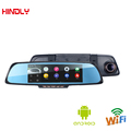 6 86 Car Camera Android DVR GPS Navigation Dual Lens Rearview Mirror Video Recorder FHD 1080P