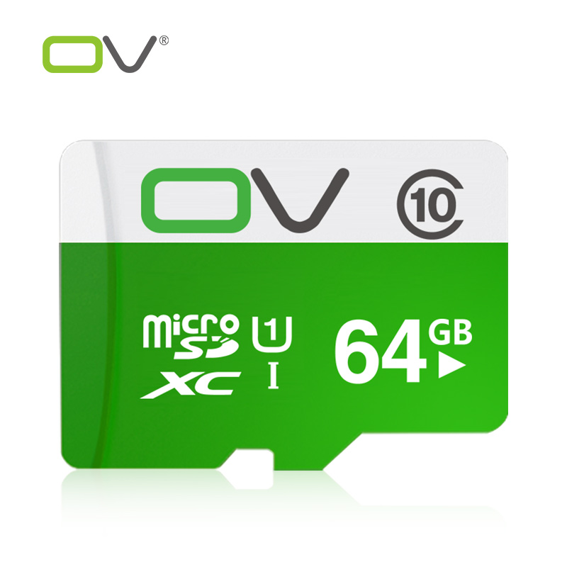 OV Micro SD Card 64GB Class 10 SDXC Memory Card UHS1 Real Capacity TF/Micro SD Hight speed up to 80M/S for Tablet Smartphone(China (Mainland))