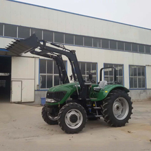 Hot Sell 100 HP 4 Wheel Tractor With Front Bucket Backhoe Loader(China (Mainland))