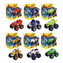2016 New 6pcs/set Blaze Monster Machines Toys Vehicle Car Pickle Zeg Darrington Crusher Stripes Original Box Best Gifts For Kids(China (Mainland))